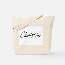 Christine artistic Name Design Tote Bag
