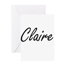 Claire artistic Name Design Greeting Cards