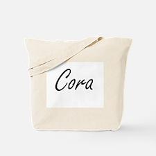Cora artistic Name Design Tote Bag