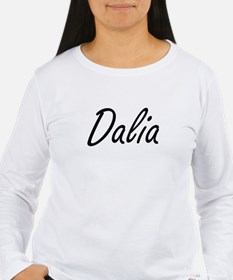 Dalia artistic Name Design Long Sleeve T-Shirt
