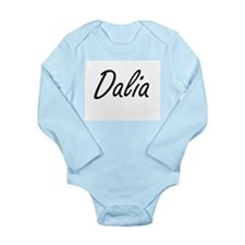 Dalia artistic Name Design Body Suit