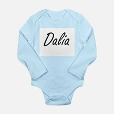 Dalia artistic Name Design Body Suit