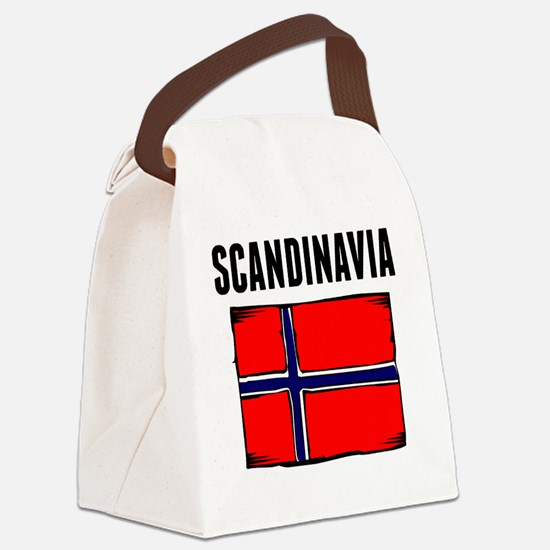 Scandinavia Flag Canvas Lunch Bag