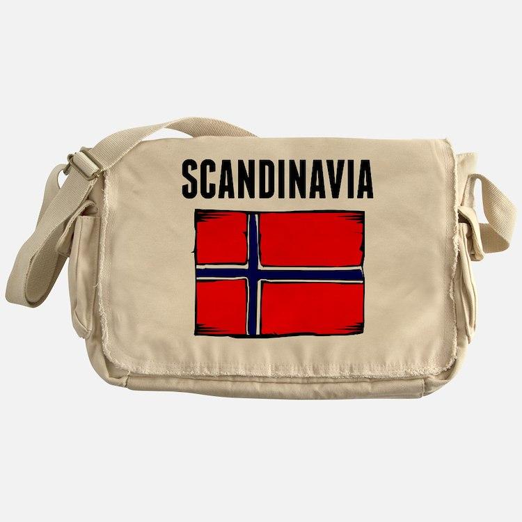 Scandinavia Flag Messenger Bag