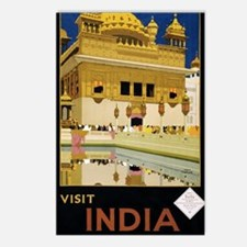Visit India Vintage Trave Postcards (Package of 8)