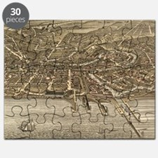 Vintage Pictorial Map of Cleveland (1877) Puzzle