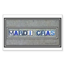 Mardi Gras Rectangle Decal