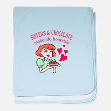 Sisters & Chocolate baby blanket