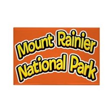 Mount Rainier National Park (Cartoon) Rectangle Ma
