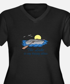 Lake Is My Happy Place Plus Size T-Shirt