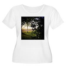 Foggy Sunrise Plus Size T-Shirt