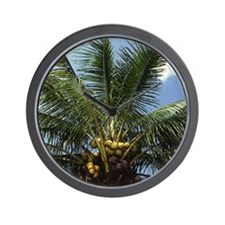 Coconut Palm Tree Wall Clock