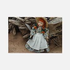 Anne of Green Gables Doll  Rectangle Magnet