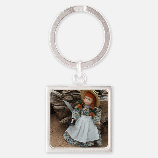 Anne of Green Gables Doll  Square Keychain