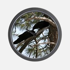 Crows in Love Wall Clock
