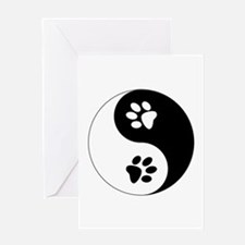 Yin Yang Paws Greeting Card