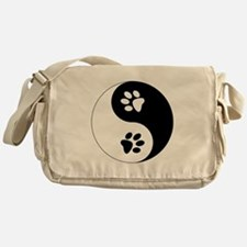 Yin Yang Paws Messenger Bag