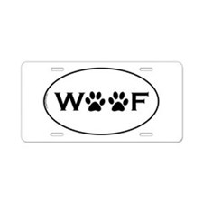 Woof Paws Aluminum License Plate