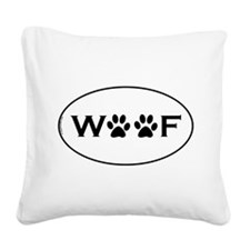Woof Paws Square Canvas Pillow