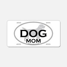 DOGMOM.png Aluminum License Plate