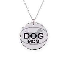 DOGMOM.png Necklace Circle Charm