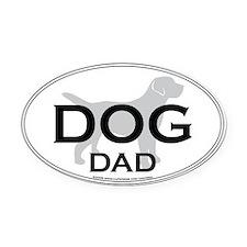 DOGDAD.png Oval Car Magnet