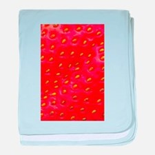 Strawberry Closeup baby blanket