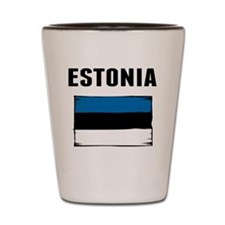 Estonia Flag Shot Glass