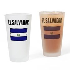 El Salvador Flag Drinking Glass