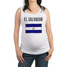 El Salvador Flag Maternity Tank Top