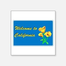 "Cute Anaheim california Square Sticker 3"" x 3"""