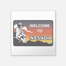 "Welcome to Nevada - USA Square Sticker 3"" x 3"""