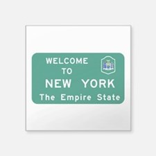 "Welcome to New York - USA Square Sticker 3"" x 3"""