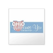 "Welcome to Ohio - USA Square Sticker 3"" x 3"""