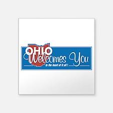 "Welcome to Ohio - USA Square Sticker 3"" x 3"""