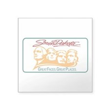 "Cute South dakotans Square Sticker 3"" x 3"""
