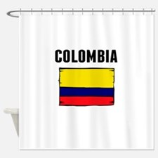 Colombia Flag Shower Curtain