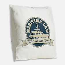 Arrested Development Maritime Burlap Throw Pillow