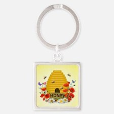 Beekeepers Square Keychain Keychains