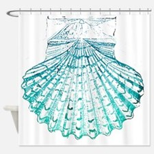 modern sea shells nautical  Shower Curtain
