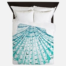 modern sea shells nautical  Queen Duvet