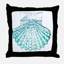 modern sea shells nautical  Throw Pillow