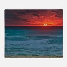 Sunset Beach Throw Blanket