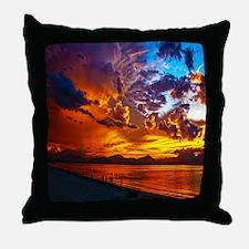Sunset Beach Gifts Throw Pillow