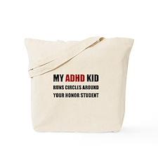 ADHD Runs Circles Tote Bag