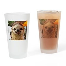 Cute Sloth Drinking Glass