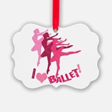 I Love Ballet Ornament