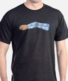 Arrested Development Leave a Note T-Shirt