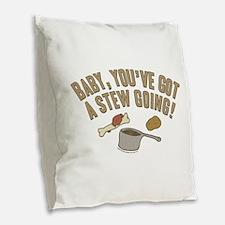Arrested Development Stew Burlap Throw Pillow