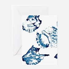 modern sea shells nautical Greeting Cards